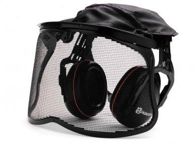 Husqvarna apsauginės ausinės su tinkliniu skydeliu